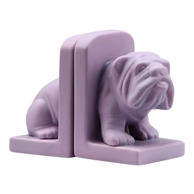 Purple Bulldog Bookend
