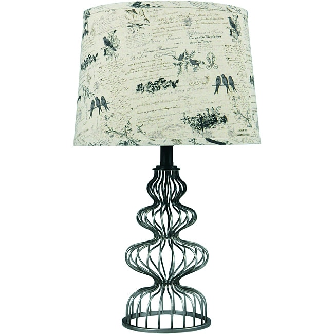 Somette Cagey Metal Pewter Table Lamp
