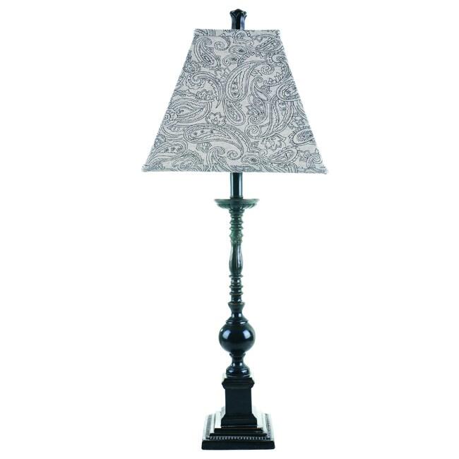 Somette Williamsburg Resin/ Black Table Lamp