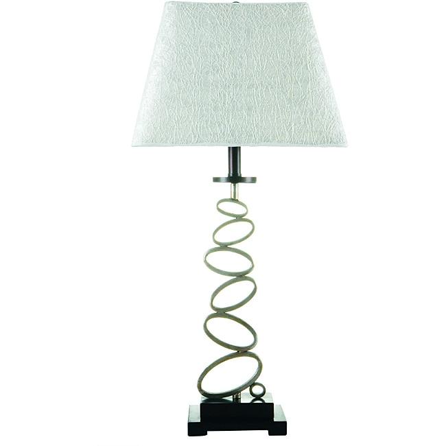 Somette Metal 'Organic Circles' Table Lamp