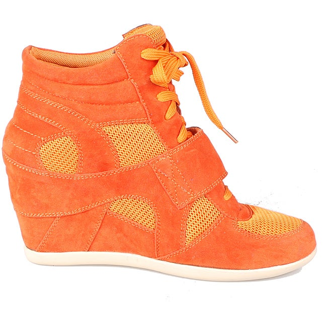 Refresh by Beston Women's 'Dakota' Orange Sneaker Booties
