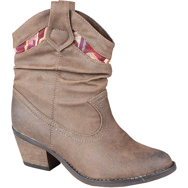 Refresh by Beston Women's 'Makay-01' Brown Cowgirl Boots