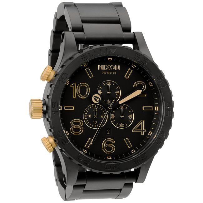 Nixon Men's 51-30 Chrono Matte Black and Gold Watch