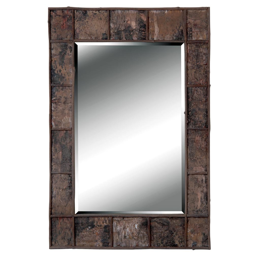 Jobi Birch Bark Wood Wall Mirror 14535033 Overstock