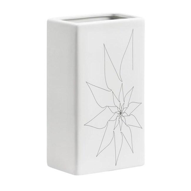 Blithe White Rectangular Vase (Set of 3)