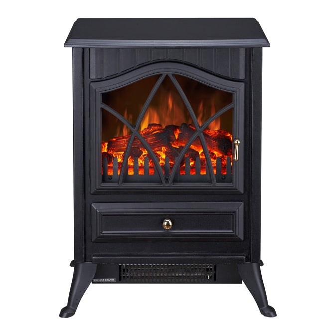 Lifesmart Quartz Infrared Antique Freestanding Stove Heats 800 Square Feet