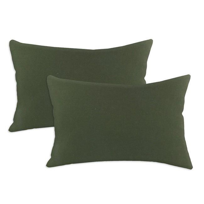 Duck Olive Drab S-backed Fiiber Pillows (Set of 2)