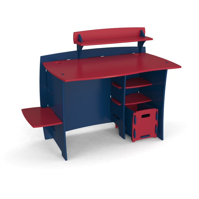 Legare Kids' 43-inch Navy/ Red Desk with File Cart