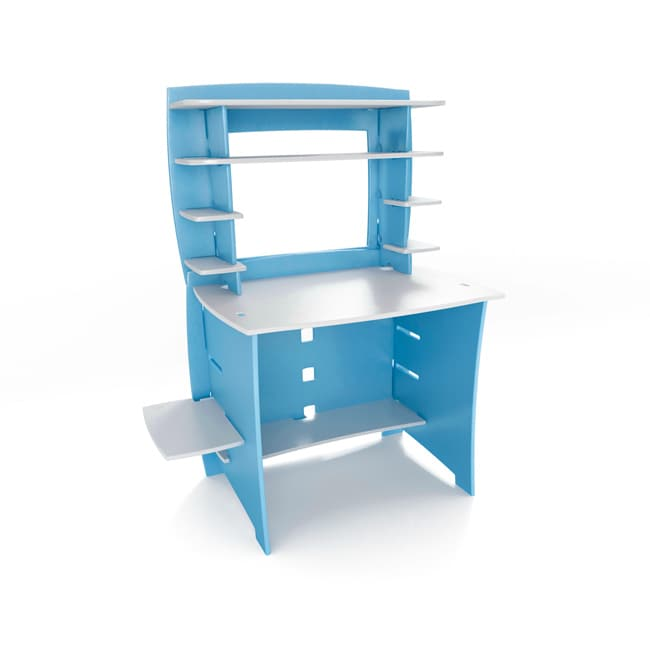 Legare Kids' Blue/ White Desk/ Hutch