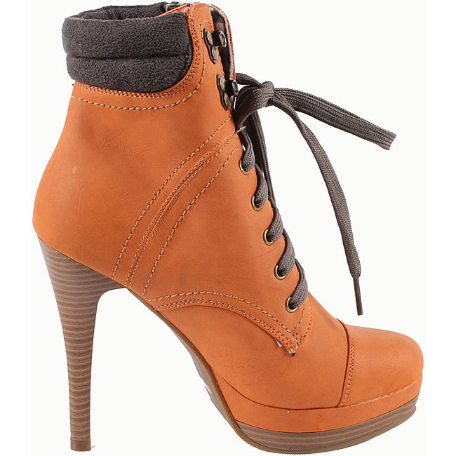 Blossom by Beston Women's 'Vary-7' Lace-up Ankle Boots