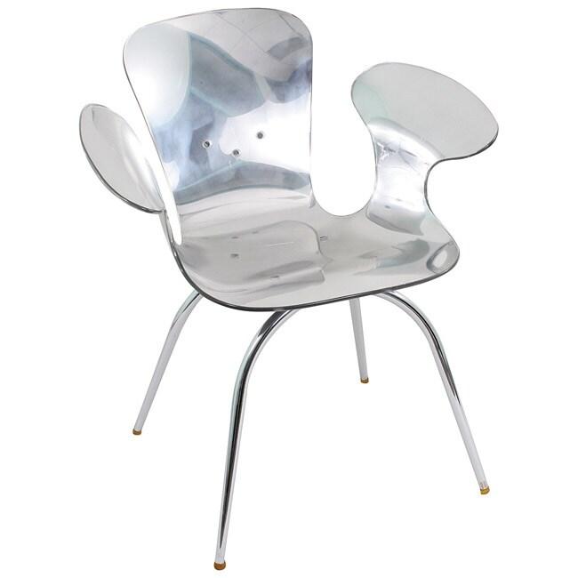 LumiSource Chrome Acrylic Cradle Chair