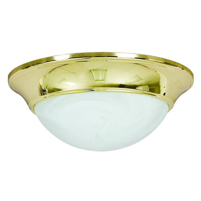 Polished Brass One Light Flush Mount
