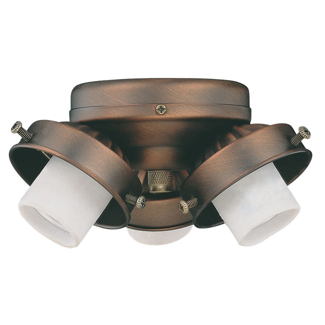Three Light Oil Brushed Bronze Ceiling Fan Light Kit - Thumbnail 0