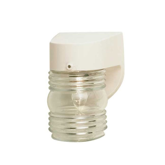 One Light White Outdoor Lantern