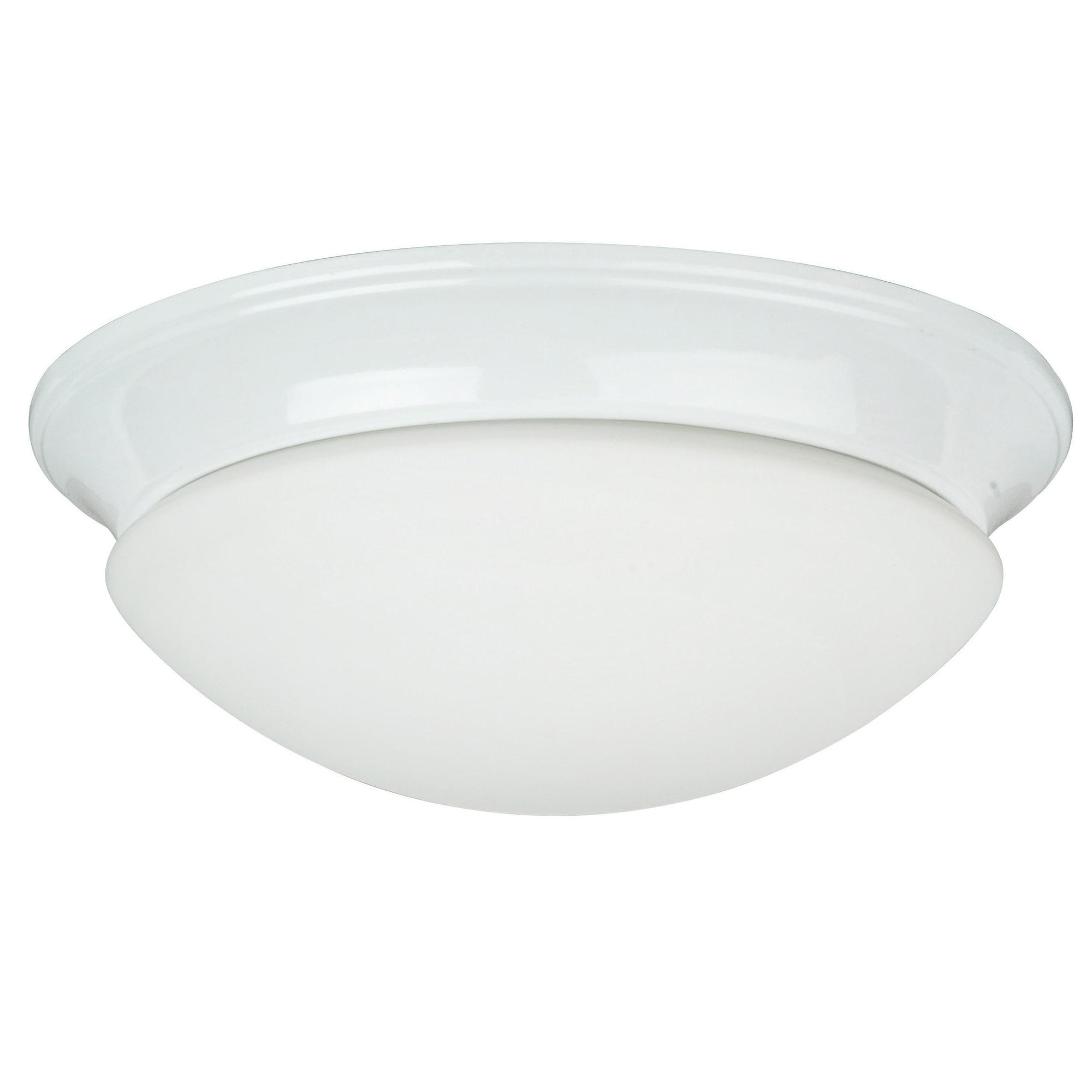 Two Light White Twist on Opal Flush Mount