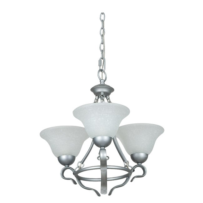 Three Light Satin Nickel Chandelier