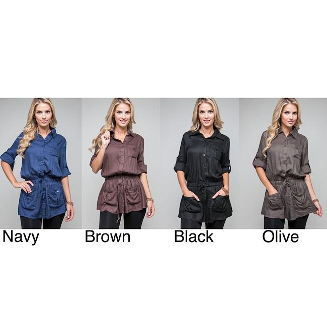 Stanzino Women's Button-front Military Tunic