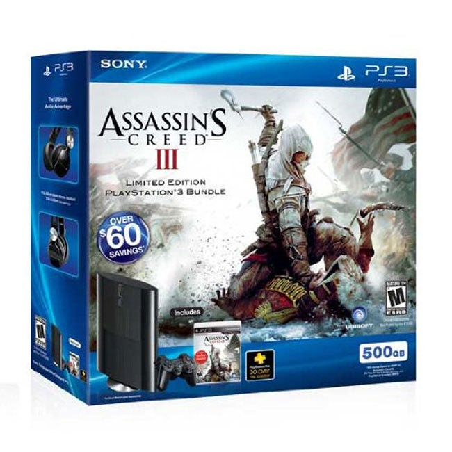 PlayStation 3 500GB Assassin's Creed III Bundle
