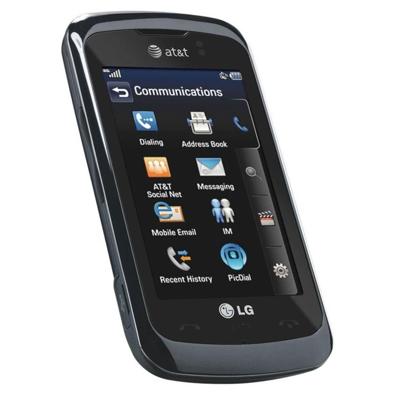 LG Encore GT550 Unlocked GSM Touchscreen Cell Phone - Black - Thumbnail 0