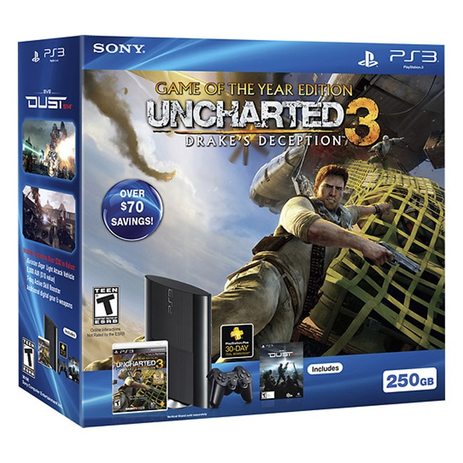 PS3 250GB Uncharted 3 Bundle - Thumbnail 0