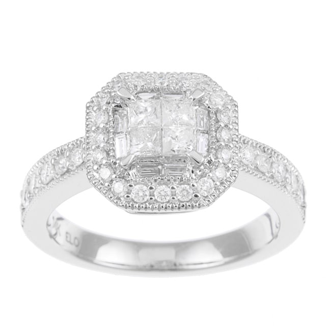 14k White Gold 3/4ct TDW Diamond Engagement Ring (H-I, I1-I2) - Thumbnail 0