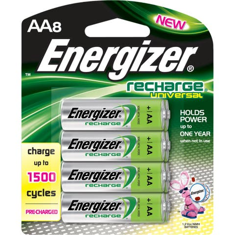 Energizer Recharge Universal Rechargeable AA Batteries, 8 Pack