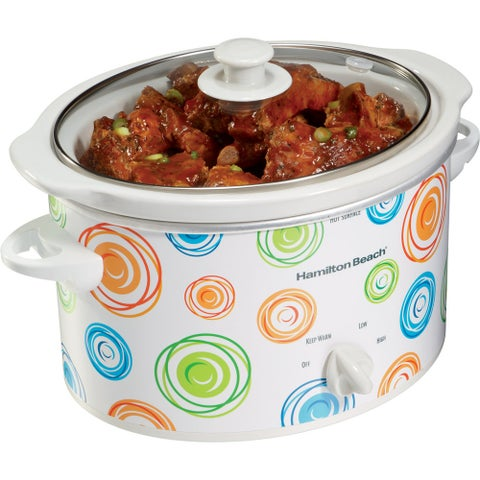 Hamilton Beach Swirl Pattern 3-quart Oval Slow Cooker