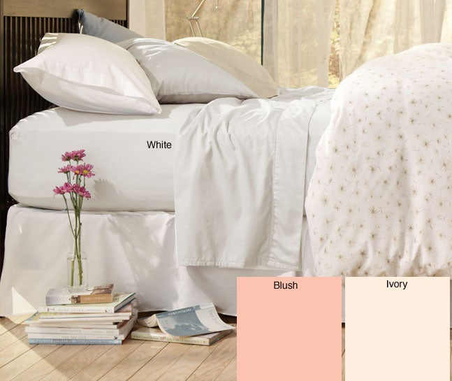Sateen 400 Thread Count Solid Sheet Set (King/White)