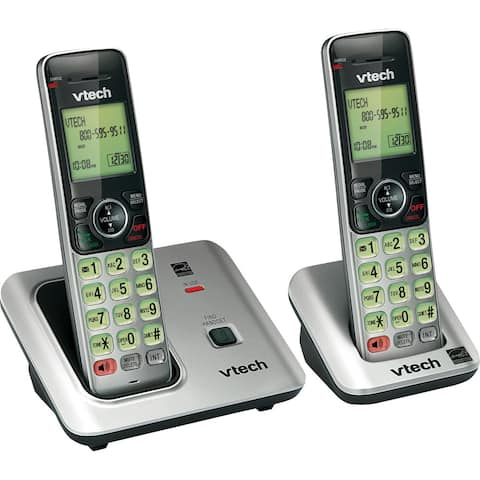 VTech CS6619-2 DECT 6.0 Expandable Cordless Phone with Caller ID/Call Waiting, Silver with 2 Handsets