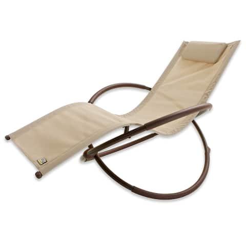 RST Brands Orbital Zero Gravity Patio Lounger Rocking Chair
