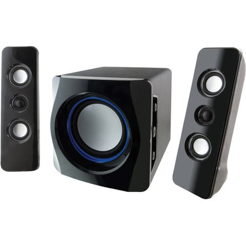 iLive IHB23B 2.1 Bluetooth Speaker System - 150 W RMS - Black, White