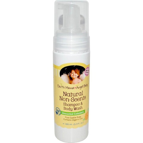 Earth Mama Angel Baby 5.3-ounce Natural Non-Scents Shampoo and Body Wash