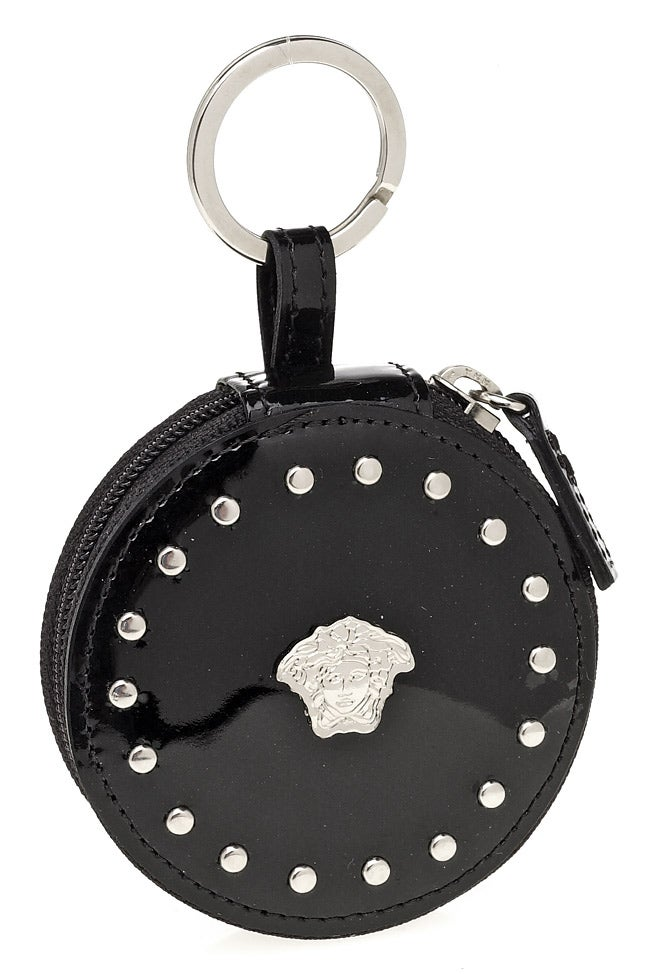 Versace Black Patent Leather Keychain Coin Purse
