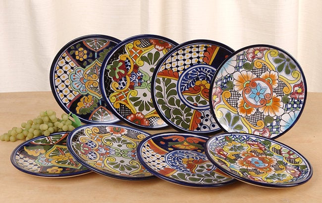 Shop Set Of Eight Talavera Salad Plates Mexico Free