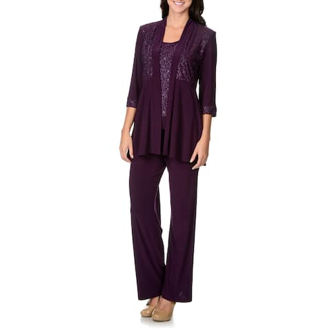 R&M Richards Women's Mock 2-piece Pant Set