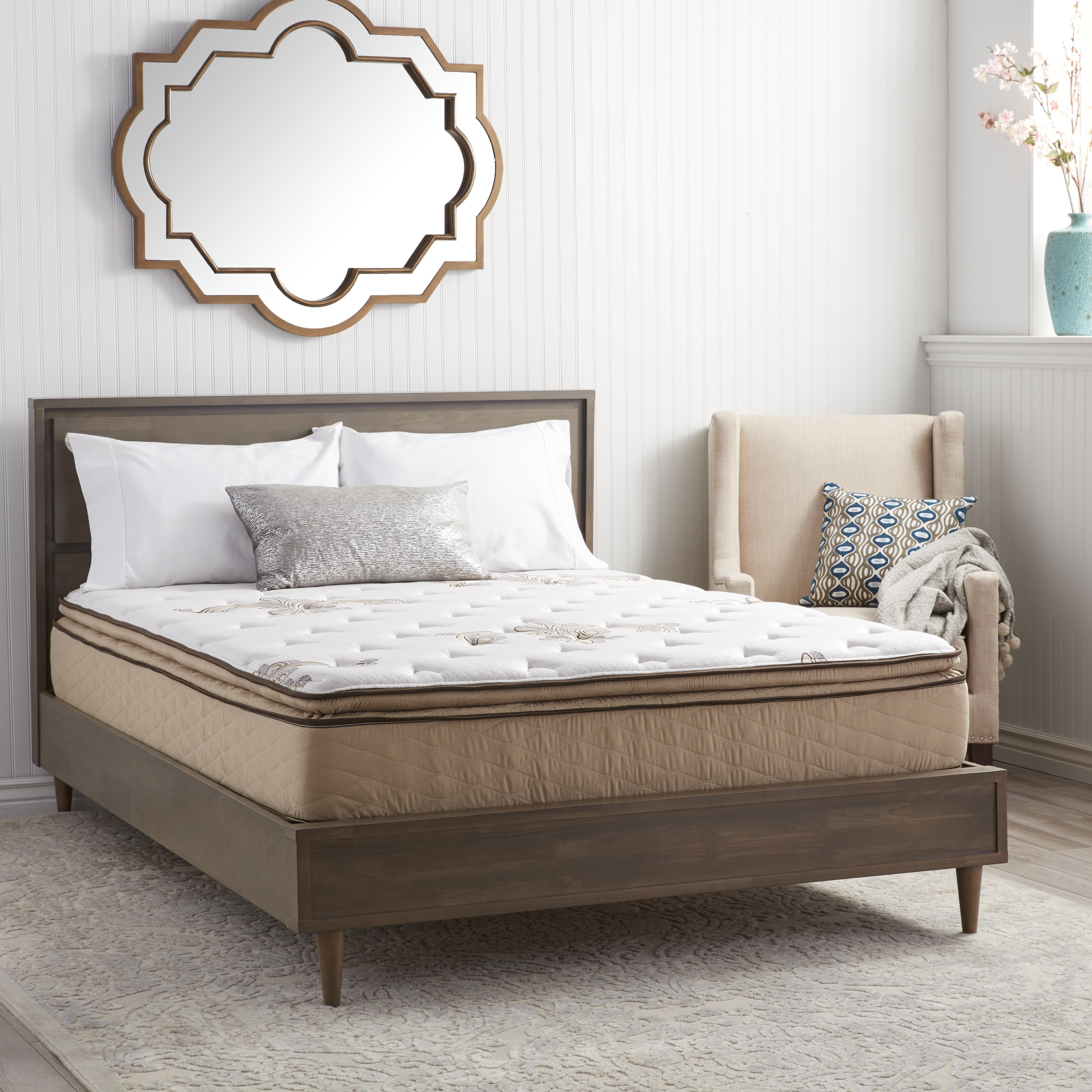 NuForm Quilted Pillow Top 11-inch King-size Foam Mattress...