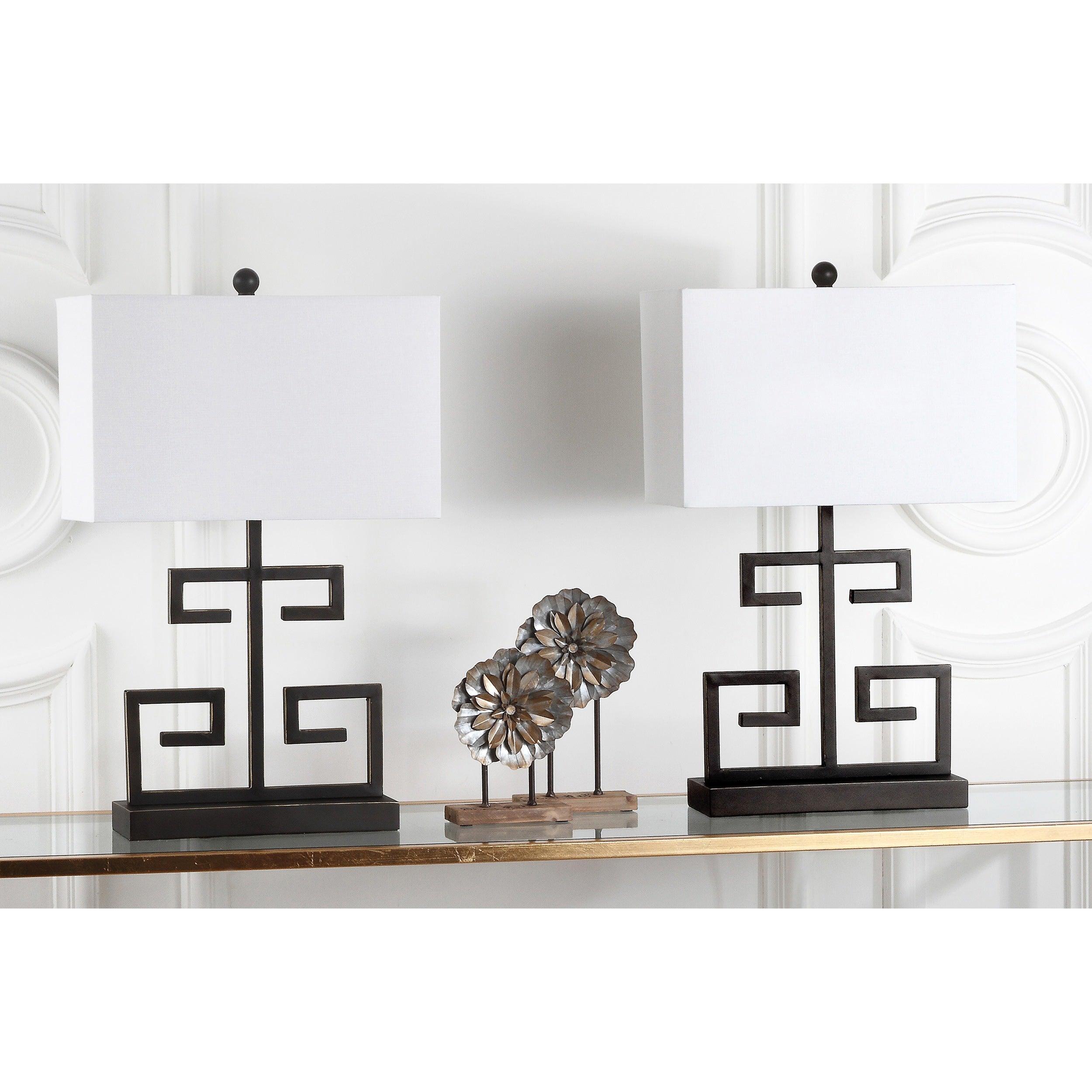 Safavieh Lighting 24-inch Bronze Greek Key Table Lamp (Se...