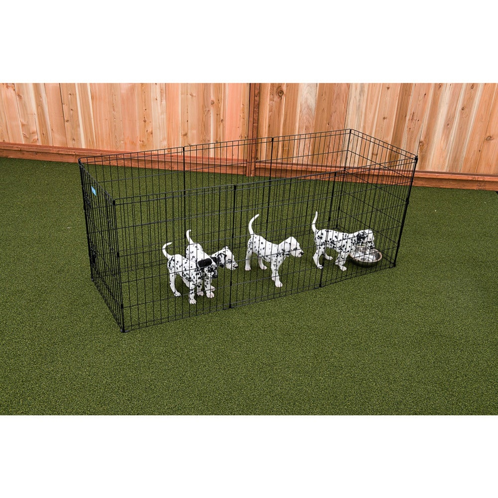 """Lucky Dog Black Metal Pet Exercise Pen with Stakes (36""""H,..."""