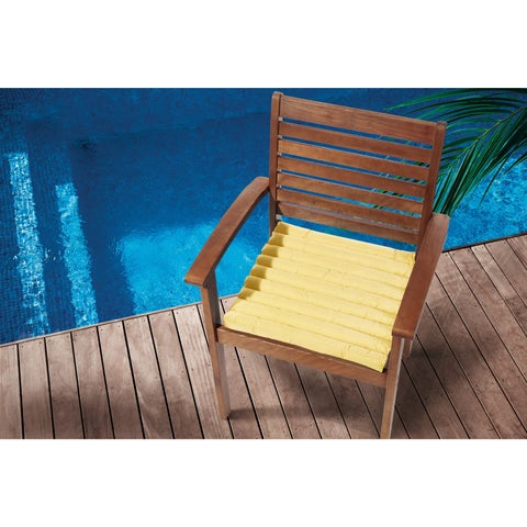 Mina Victory Indoor/Outdoor Yellow Cushionby Nourison (17-Inch X 17-Inch)