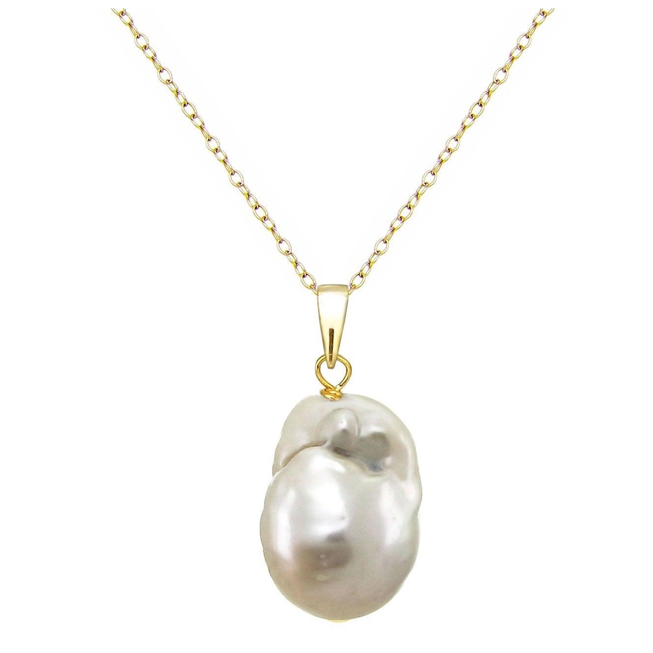 Frank Aaa+ 11-12mm Tahaitian Black Pearl Pendant Necklace 18 Inch Box