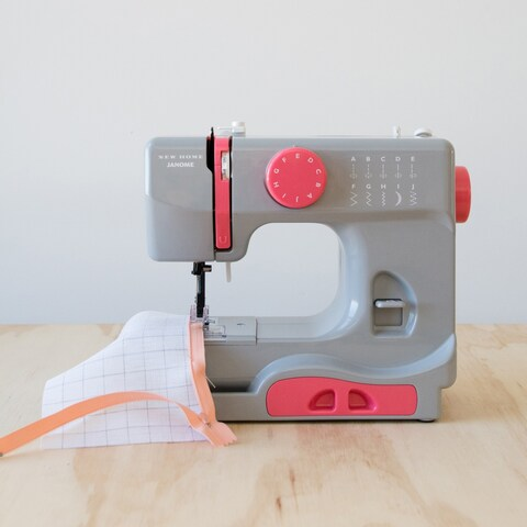 Janome Graceful Grey Basic, Easy-to-Use, 10-stitch Portable, 5 lb Compact Sewing Machine with Free Arm