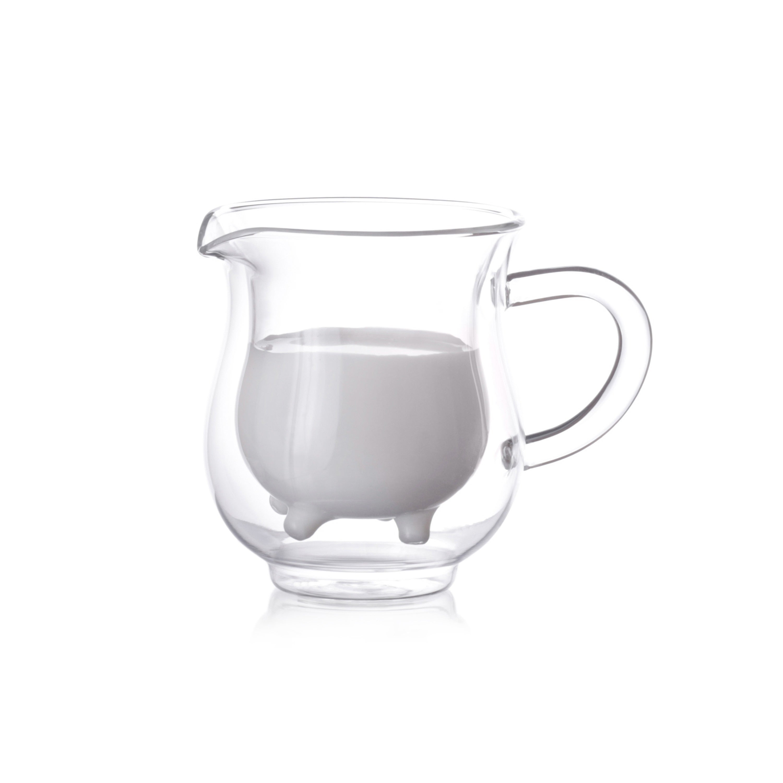 Epar 8 oz. Double-wall Creamer (Glass), Clear