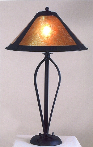Shop Tri Scroll Table Lamp With Mica Shade Free Shipping Today