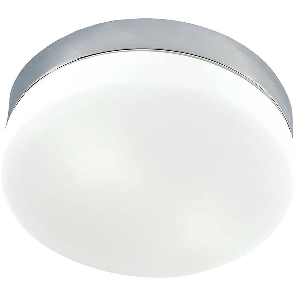 Cornerstone 9-inch 9-inch Satin Nickel/ White Glass 1-light Flush Mount