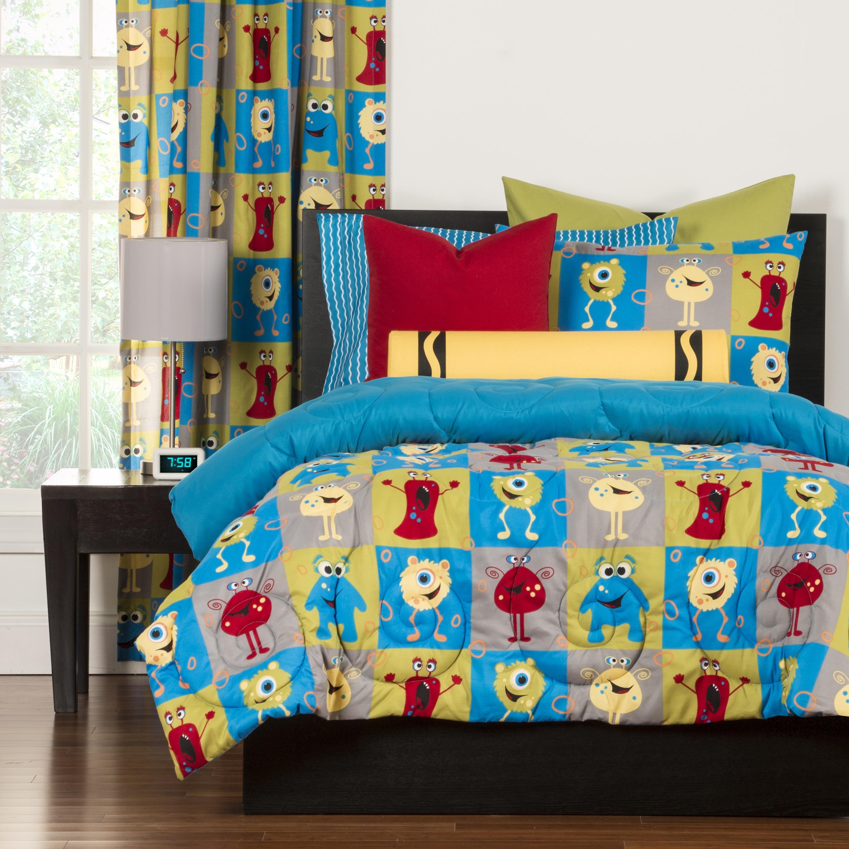 Crayola Monster Friends 3-piece Comforter Set (3 Piece - ...