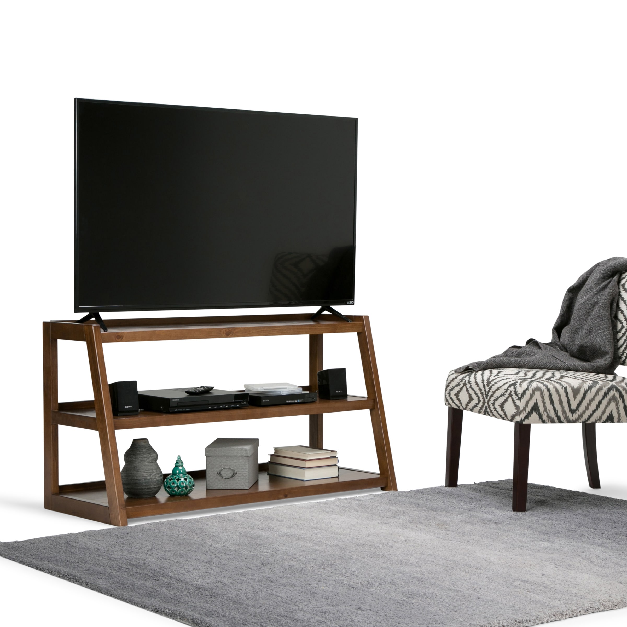 Greyson Living Laguna Antique White Panel Bed 6piece: Shop Carson Carrington Svendborg 48-inch Mid-century TV