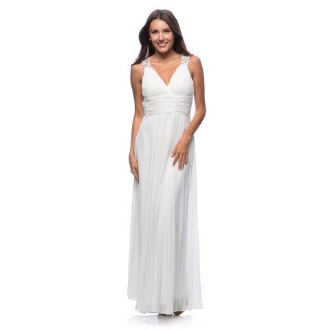 DFI Women's Evening Gown V-Neck