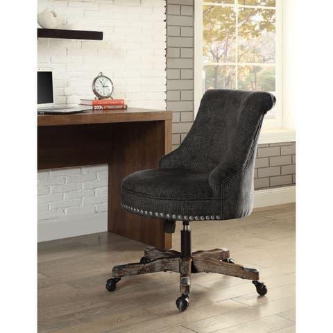 Linon Pamela Office Chair Grey