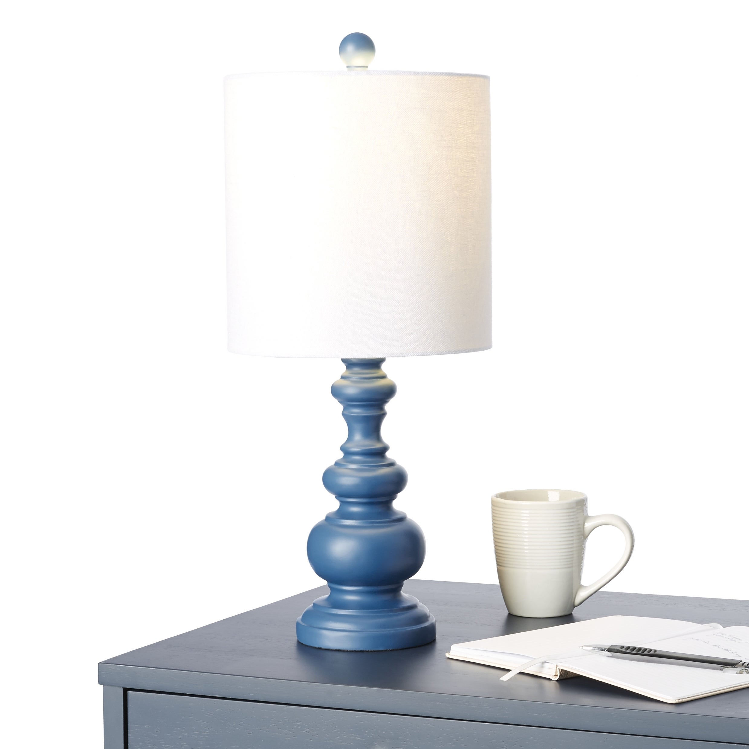 Shop Transitional Indigo Resin Table Lamp Free Shipping