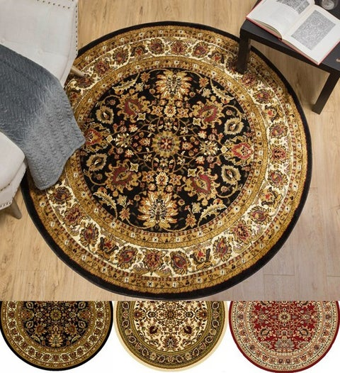 Home Dynamix Royalty Collection Traditional Round Machine Made Polypropylene Area Rug - 3'3